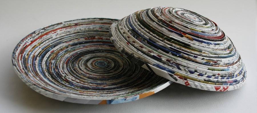 Super Portaoggetti in carta riciclata | L'ora della ricreazione QV17